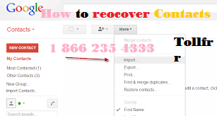 How Do you recover Google Contacts ?